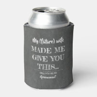 Funny Upcoming Wedding Groomsman Proposal Can Cooler