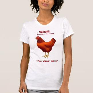 Funny Urban Chicken Farmer Red Hen T-Shirt