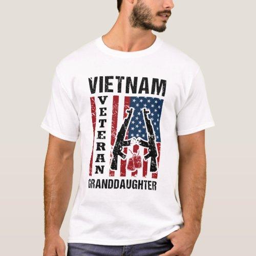 Funny US Military Vietnam Veteran Granddaughter Gi T_Shirt