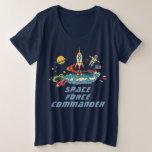 Funny US Space Force Commander Plus Size T-Shirt