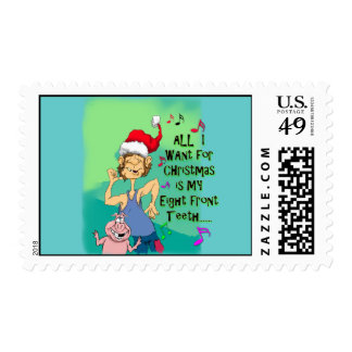 Funny US Stamp for Christmas