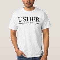 Funny Usher Customizable Wedding Party Shirt