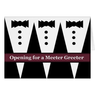 FUNNY Usher Invite with Three Tuxes Greeting Card
