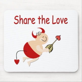 Funny Valentine Cupid Devil Mouse Pad