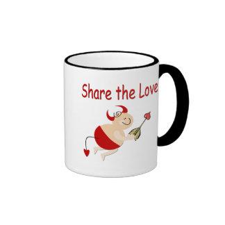 Funny Valentine Cupid Devil Ringer Coffee Mug
