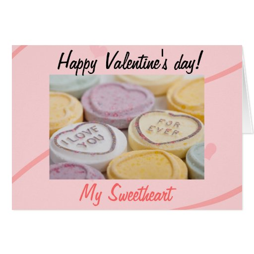 conversation hearts valentines day cards day card zazzle 6067