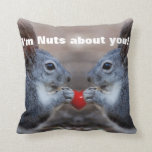 Funny Valentine Day Squirrels Pillow
