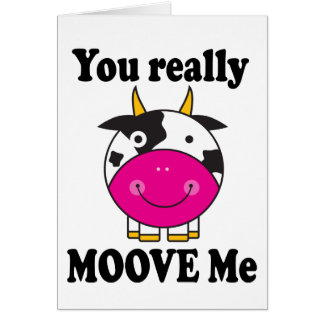 Funny Valentine Moove Me Cow Gift Card