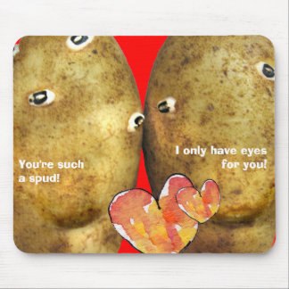 Funny Valentine Mousepad Potato Faces