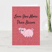 Funny Valentine Pig Holiday Card
