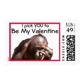 Funny Valentine Postage Stamp