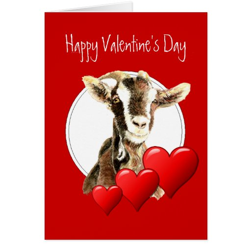 Funny Valentine to Old Goat, humor Greeting Card