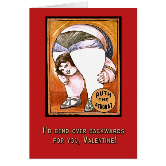 Funny Valentine with Vintage Circus Art Card