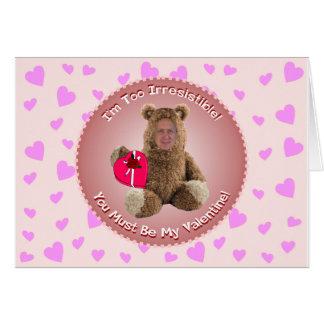 Funny Valentine's Day Card: Add-A-Head Shot™ Card