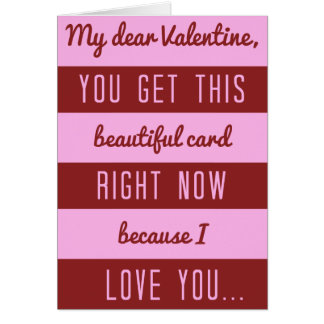Funny Valentine's Day Chocolate Discount Joke Card