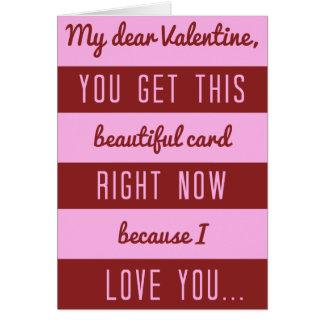 Funny Valentine's Day Chocolate Discount Joke Card