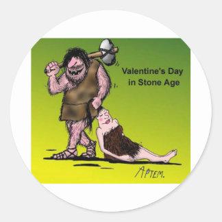Funny Valentine's Day Comic Classic Round Sticker