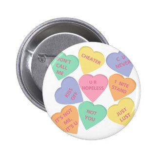 Funny Valentine's Day conversation hearts Buttons