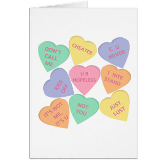 Funny Valentine's Day conversation hearts Card