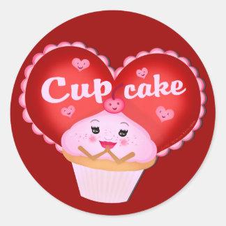 Funny Valentine's Day Cupcake Sticker