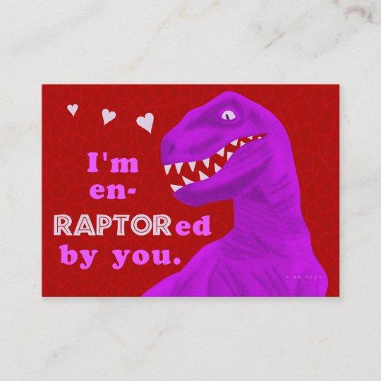 Funny Valentines Day Dinosaur Pun Kids Classroom Note Card Zazzlecom