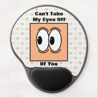 Funny Valentines Day Eyes Gel Mouse Mats
