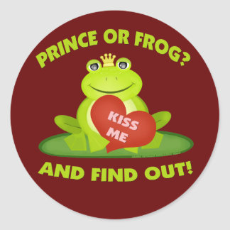 Funny Valentine's Day Frog Stickers