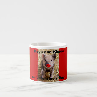 Funny Valentines Day Funny Piglet Espresso Cup