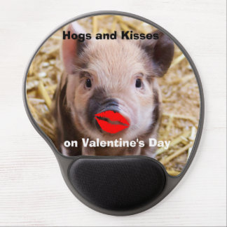 Funny Valentines Day Funny Piglet Gel Mouse Pad