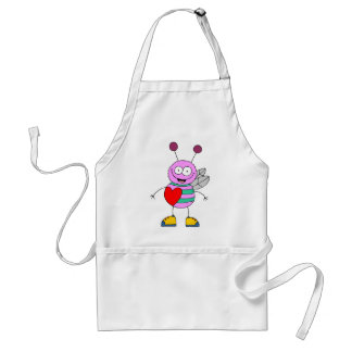 Funny Valentine's Day Heart Adult Apron