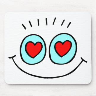 Funny Valentine's Day Heart Mouse Pads