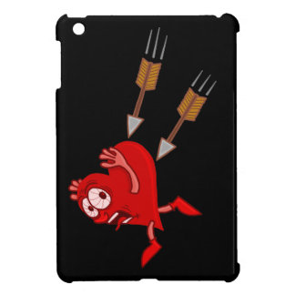 Funny Valentine's Day Heart Running from Arrows iPad Mini Covers