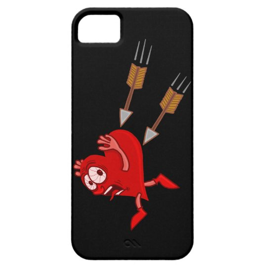 Funny Valentine's Day Heart Running from Arrows iPhone SE/5/5s Case
