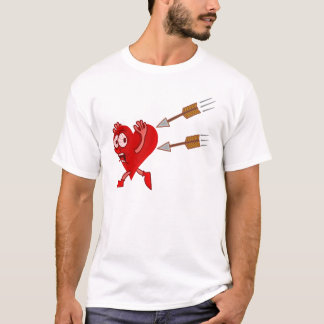 Funny Valentine's Day Heart Running from Arrows T-Shirt