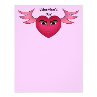 Funny Valentine's day heart with wings Flyer
