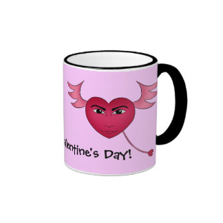 Funny Valentine's day heart with wings Coffee Mug