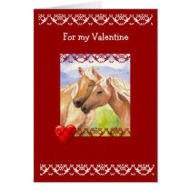 Funny Valentine's Day Horse Lovers Card