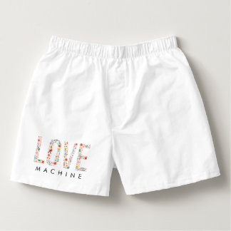 Funny Valentine's Day Love Machine Boxers