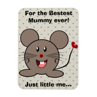 Funny Valentines Day Mouse Flexible Magnet