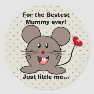 Funny Valentines Day Mouse Sticker