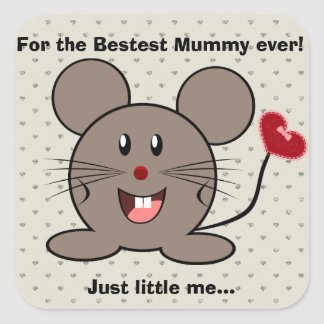Funny Valentines Day Mouse Stickers