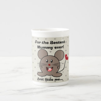 Funny Valentines Day Mouse Tea Cup