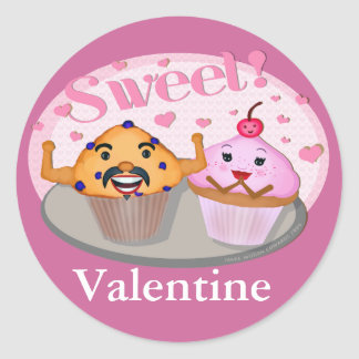 Funny Valentine's Day Muffin & Cupcake Sticker