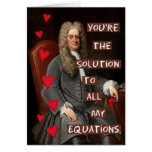 Funny Valentine's Day Newton Geek Math Love Greeting Card