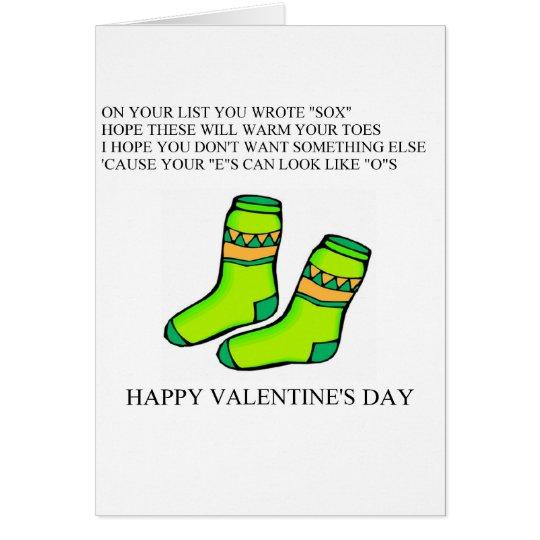 funny valentine's day poem card