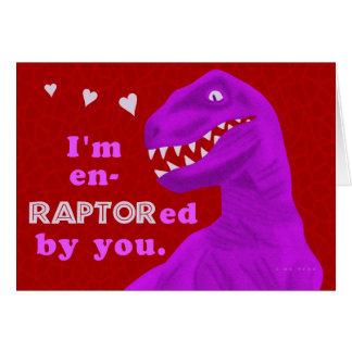 Funny Valentine's Day Raptor Dinosaur Pun Card