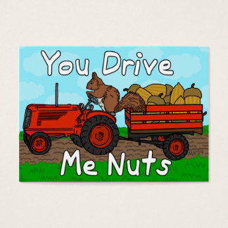 Funny Valentine's Day Squirrel Nuts Pun Kids Class Business Card