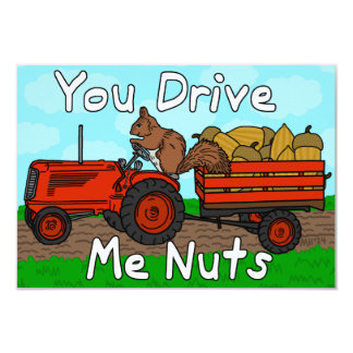 Funny Valentine's Day Squirrel Pun Kids Classroom Card