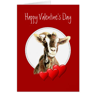 Funny Valentine's Day to the Old Goat, humor Card