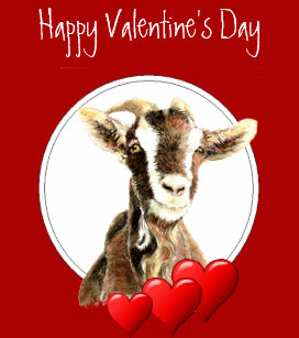 Image result for goat valentines day cards